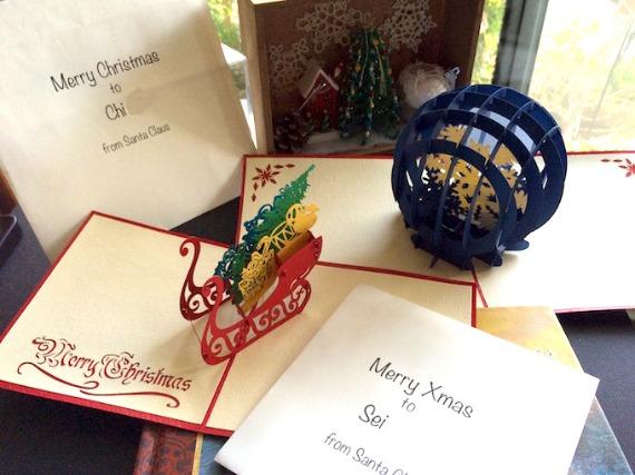 クリスマスケーキとカードとプレゼントと…☆_f0089355_1915297.jpg
