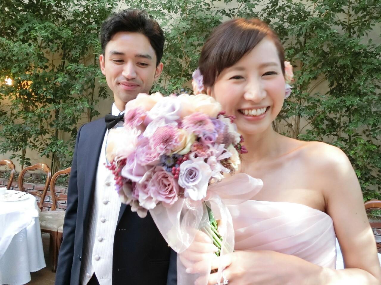 クラッチブーケ リストランテASOの花嫁さまへ バラと実り_a0042928_10382664.jpg