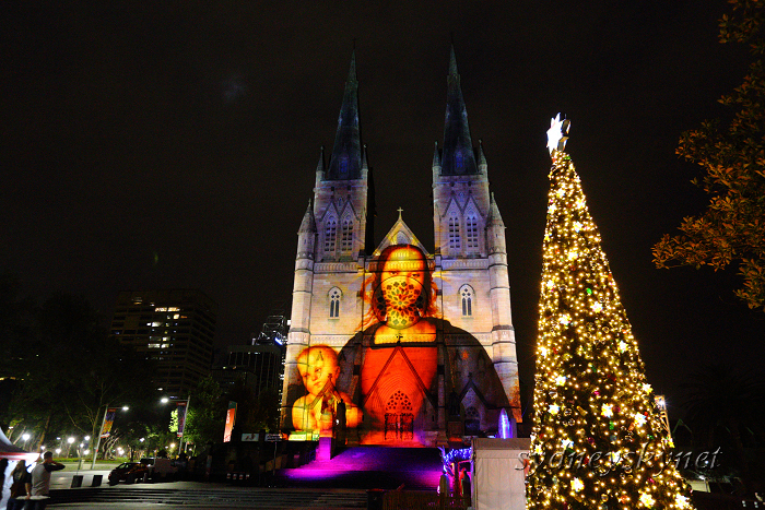 Christmas illumination ~4~ St. Mary\'s Cathedral_f0084337_20220096.jpg