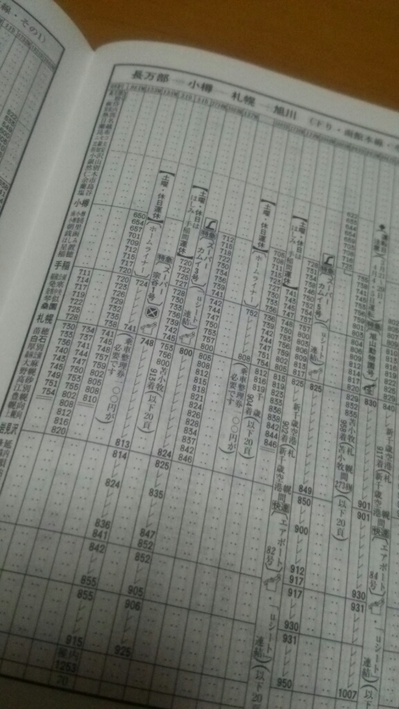 札幌駅発、大麻駅着。普通列車時刻表_b0106766_22382565.jpg