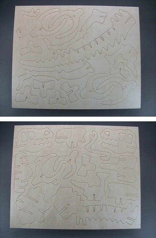 木製3D模型 ティラノサウルス(ダイソー/100円)_f0205396_19201722.jpg