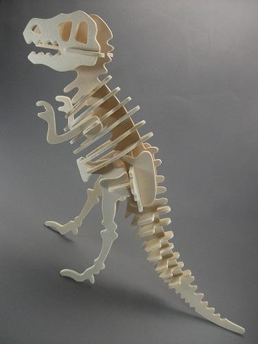 木製3D模型 ティラノサウルス(ダイソー/100円)_f0205396_19254551.jpg