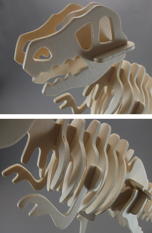 木製3D模型 ティラノサウルス(ダイソー/100円)_f0205396_1926481.jpg