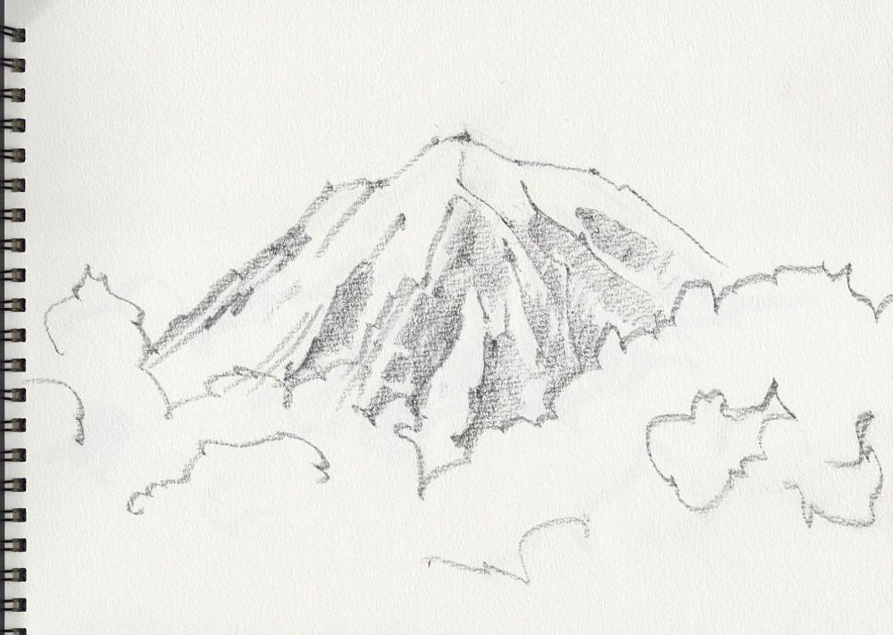 富士山スケッチ。_e0034012_22345844.jpg