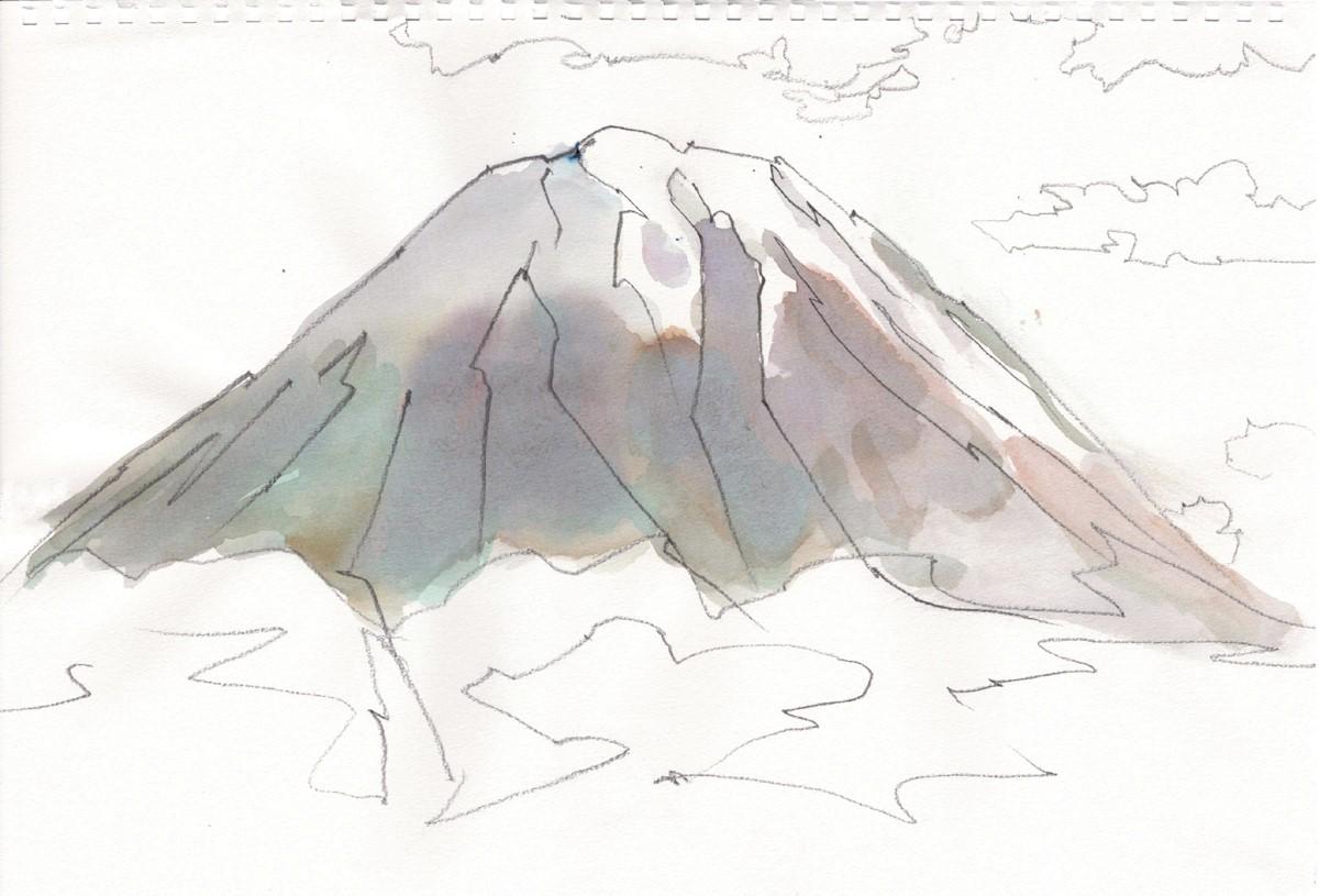 富士山スケッチ。_e0034012_22372170.jpg