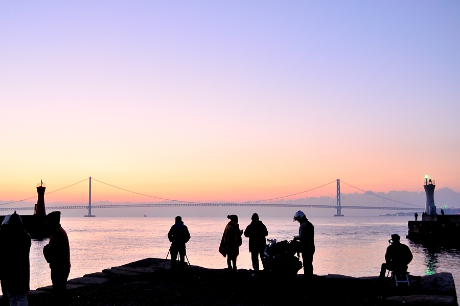 2016初日の出(明石海峡大橋)_d0148541_17591018.jpg