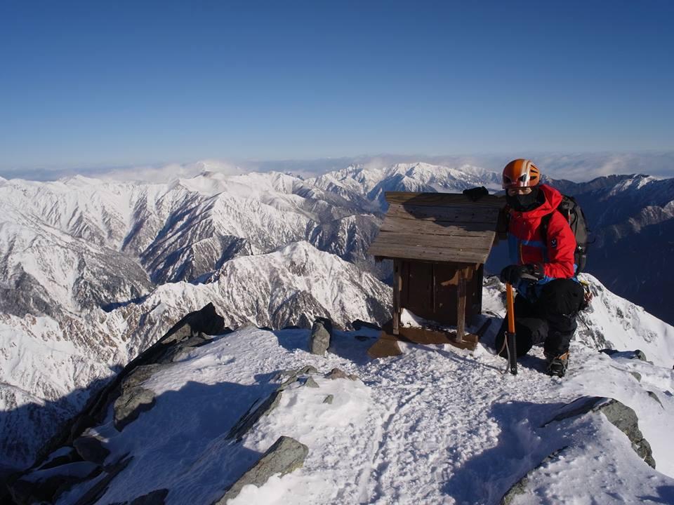 冬季槍ヶ岳登山_e0231387_1221449.jpg