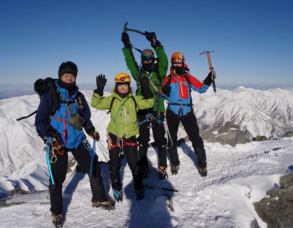 冬季槍ヶ岳登山_e0231387_1236288.jpg