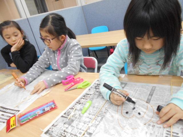 1月5日 工作教室 凧作り_c0315908_16032908.jpg