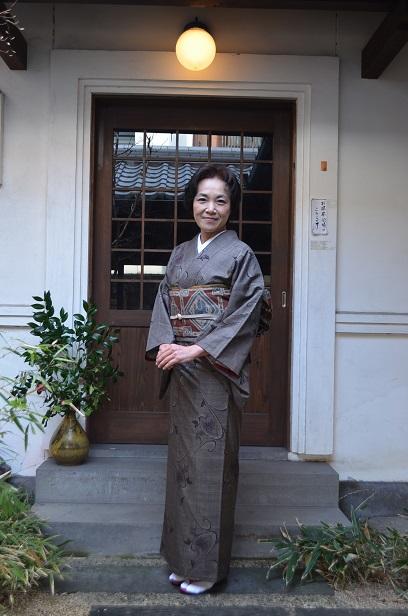 大島紬で、ご友人との新年会へ_d0230676_1523487.jpg