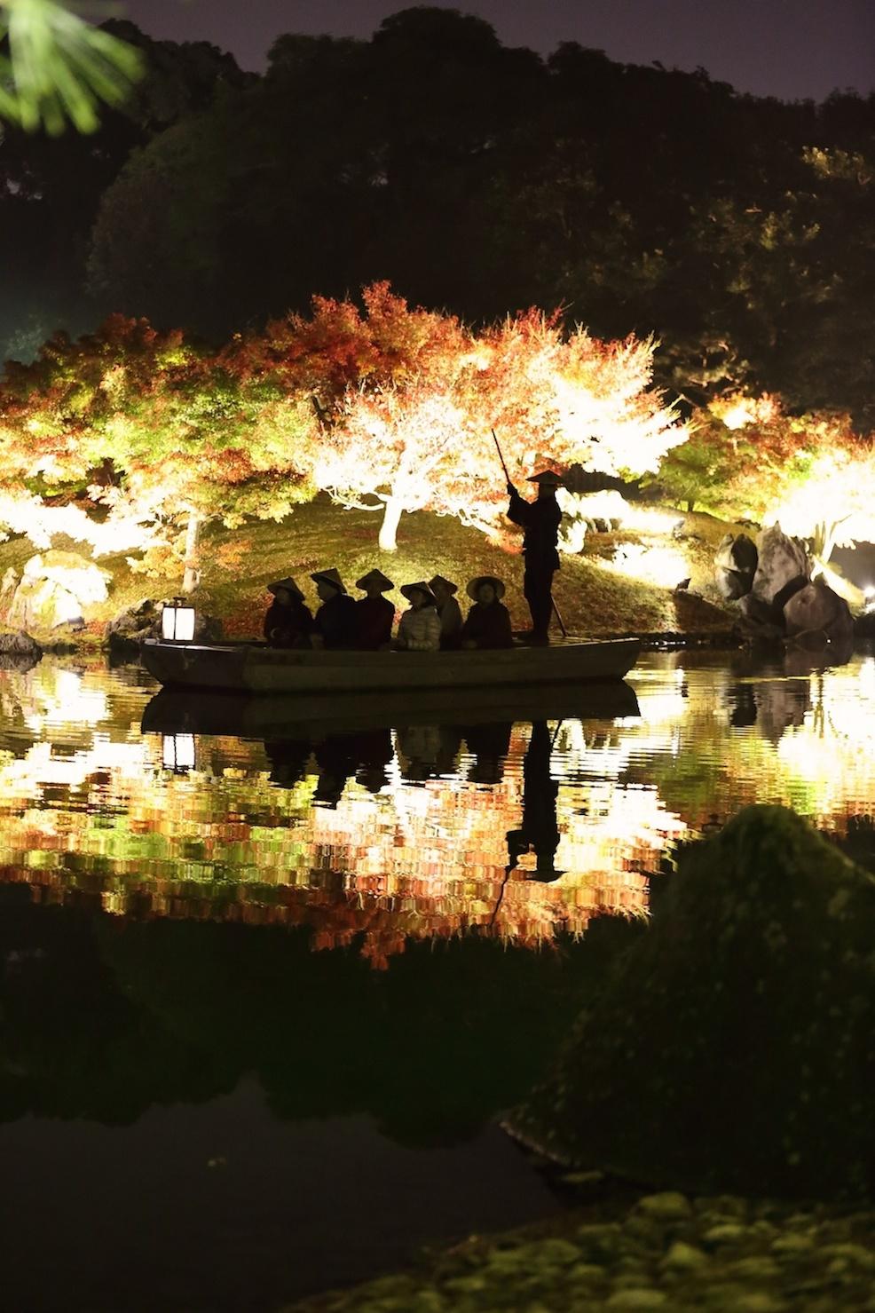 栗林公園 秋のライトアップ 2015 和船_d0081605_331059.jpg