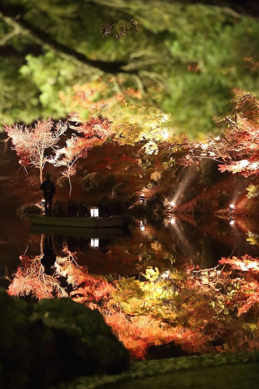 栗林公園 秋のライトアップ 2015 和船_d0081605_33583.jpg