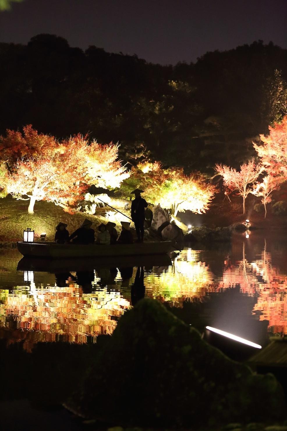 栗林公園 秋のライトアップ 2015 和船_d0081605_33740.jpg