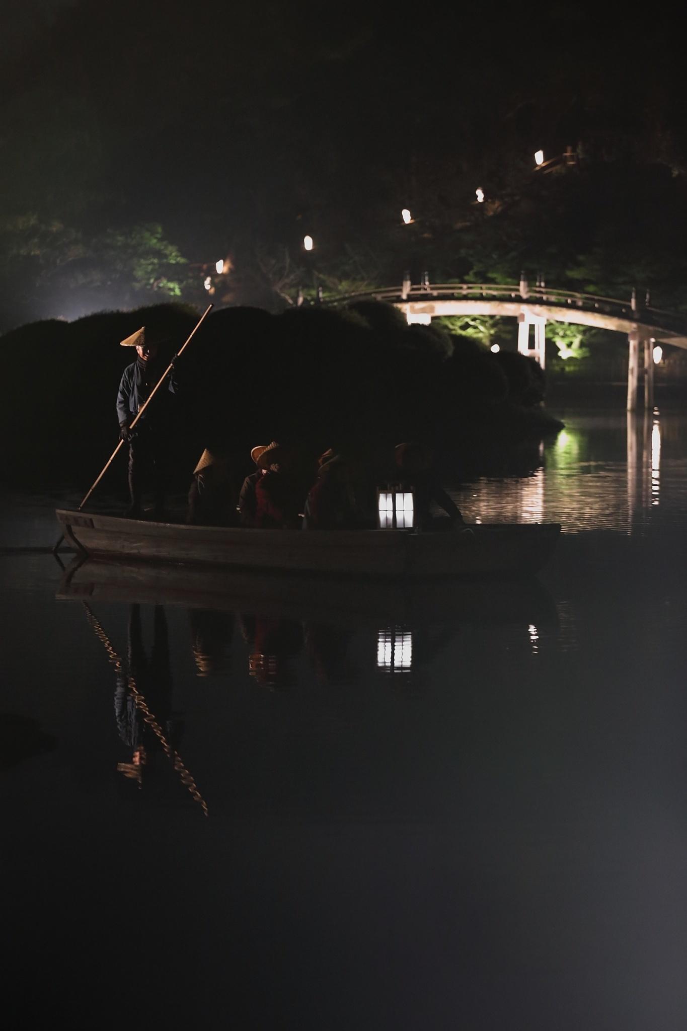 栗林公園 秋のライトアップ 2015 和船_d0081605_37519.jpg