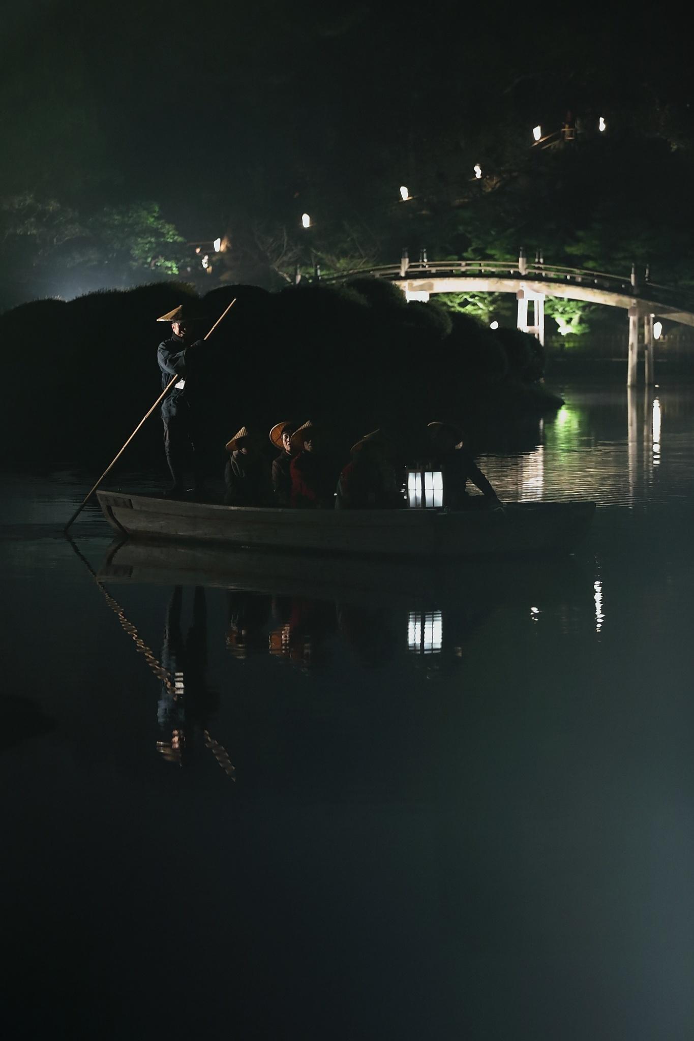 栗林公園 秋のライトアップ 2015 和船_d0081605_375372.jpg