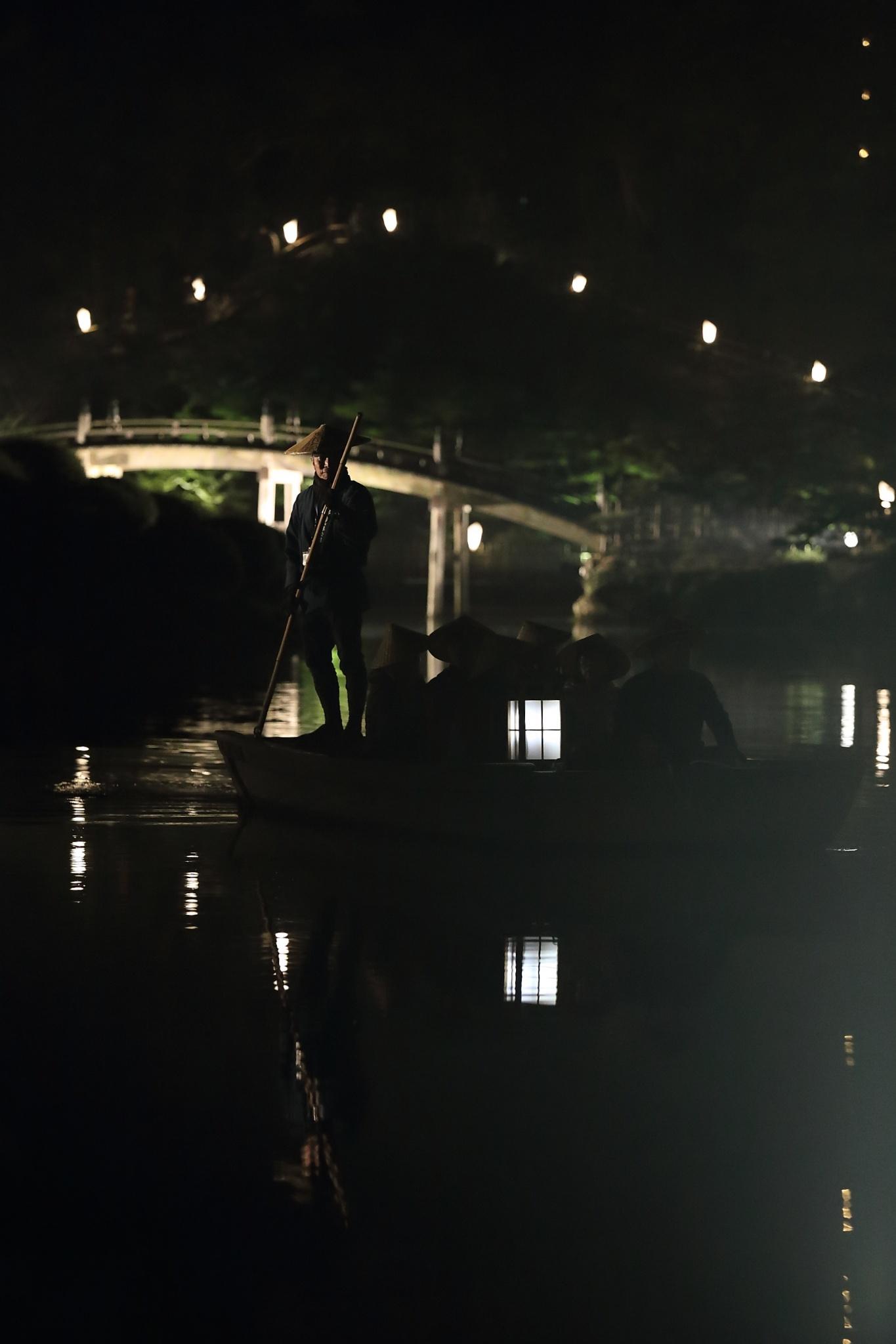 栗林公園 秋のライトアップ 2015 和船_d0081605_375580.jpg