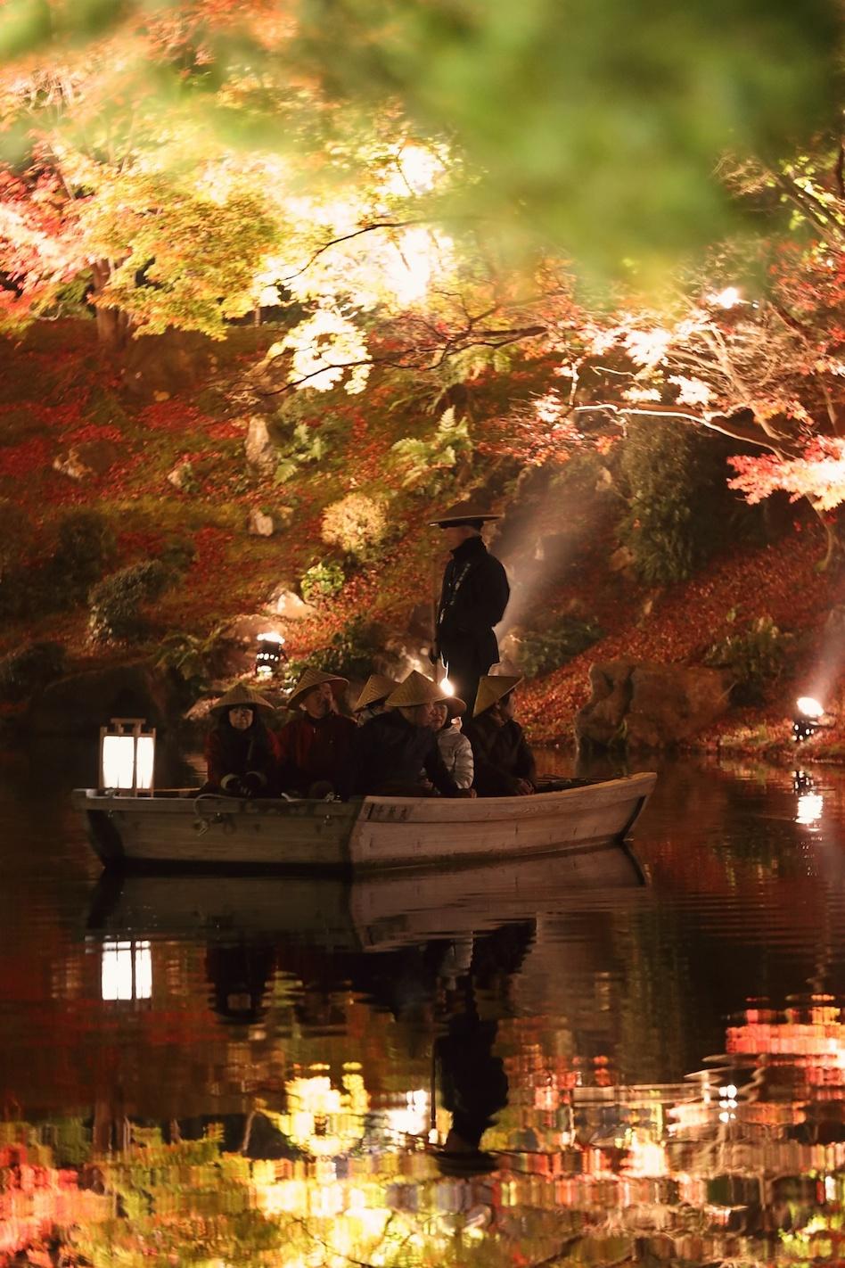 栗林公園 秋のライトアップ 2015 和船_d0081605_375662.jpg