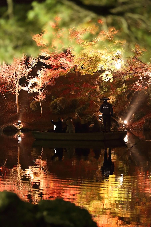 栗林公園 秋のライトアップ 2015 和船_d0081605_375951.jpg