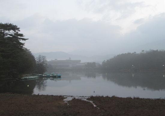 宝が池 霧の朝_e0048413_1754443.jpg