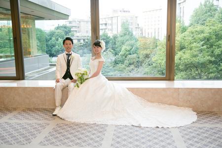 新郎新婦様からのメール 八芳園の花嫁様より 手作りのつまみ細工と_a0042928_4401268.jpg