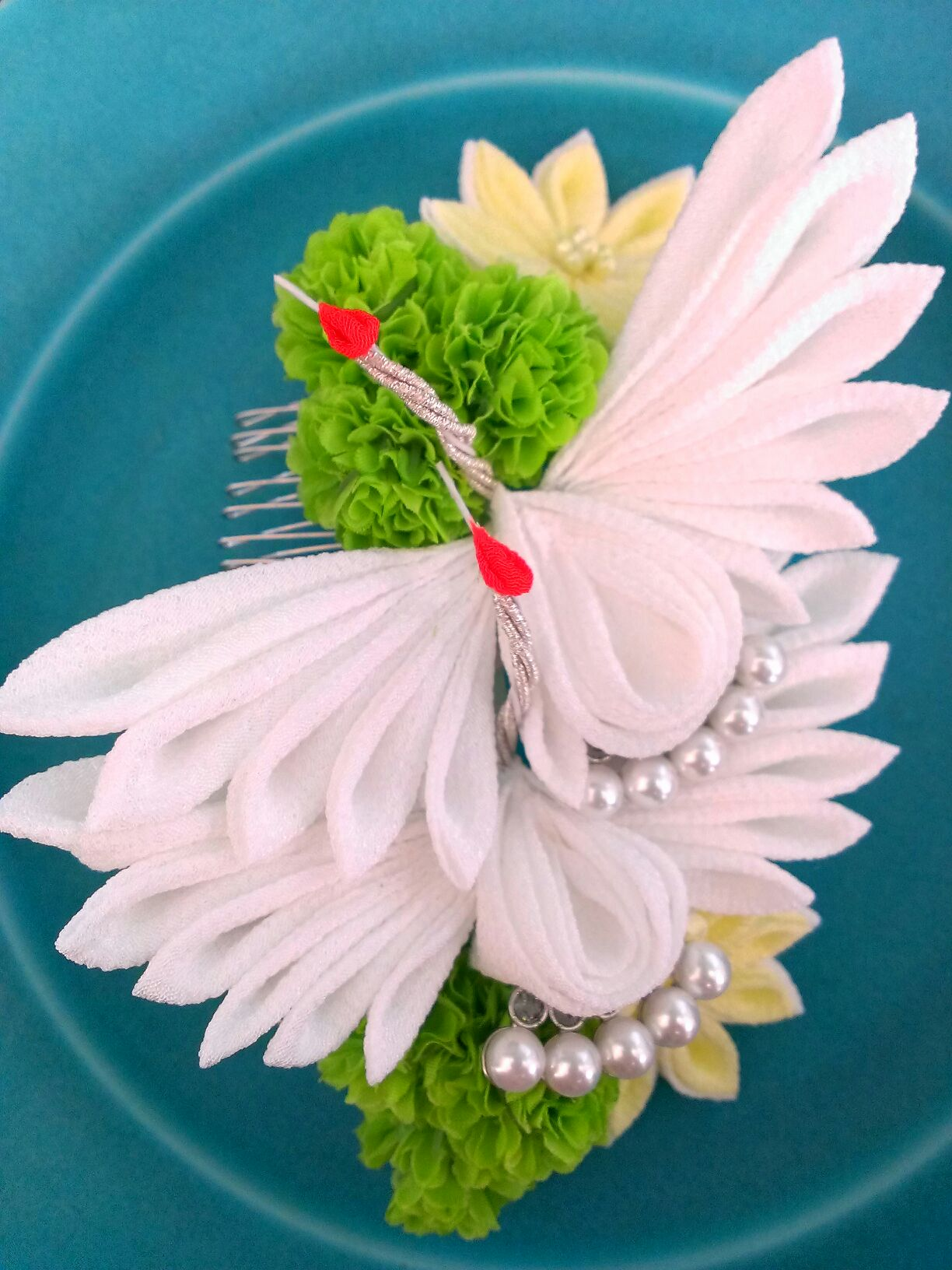 新郎新婦様からのメール 八芳園の花嫁様より 手作りのつまみ細工と_a0042928_4441651.jpg