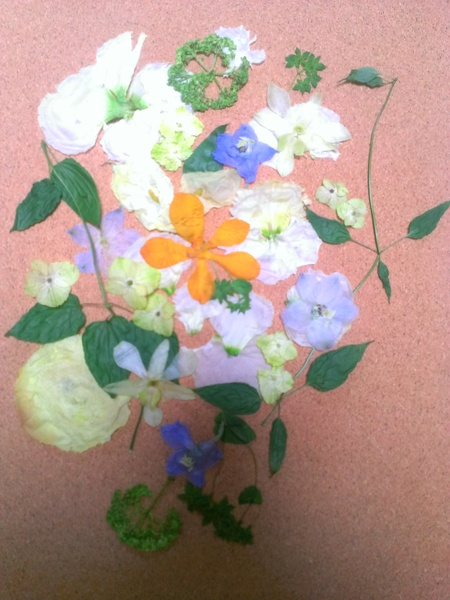 新郎新婦様からのメール 八芳園の花嫁様より 手作りのつまみ細工と_a0042928_4572586.jpg