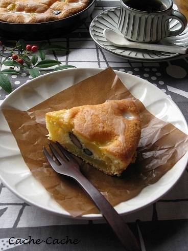 おせちリメイク♪ 栗きんとんと黒豆のケーキ_d0319943_12335583.jpg