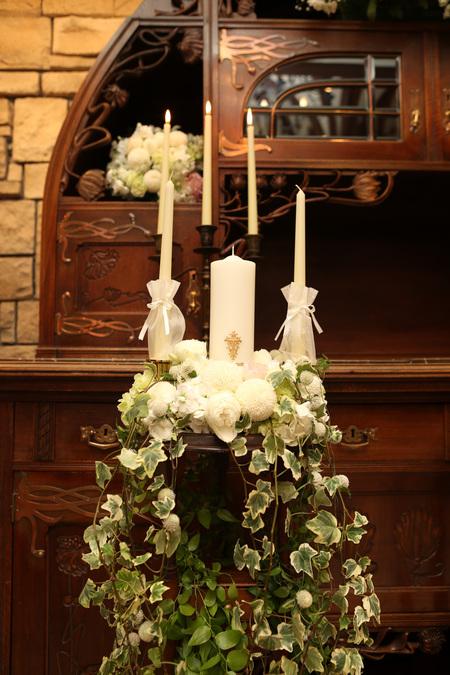 新郎新婦様からのメール HANZOYAの花嫁様より 挙式装花、色褪せぬ愛のシェアブーケ_a0042928_20243120.jpg