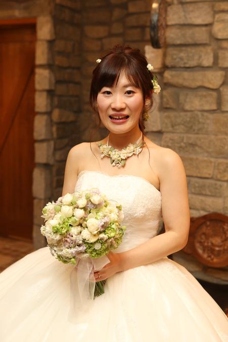 新郎新婦様からのメール HANZOYAの花嫁様より 挙式装花、色褪せぬ愛のシェアブーケ_a0042928_20251566.jpg