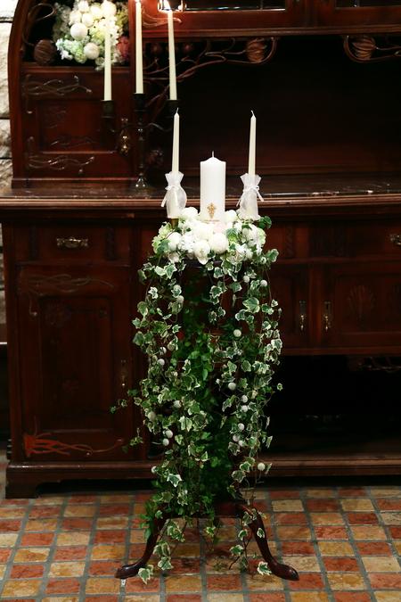 新郎新婦様からのメール HANZOYAの花嫁様より 挙式装花、色褪せぬ愛のシェアブーケ_a0042928_20331435.jpg