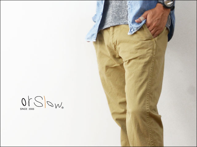 orslow[オアスロウ] SLIM FIT US ARMY TROUSER KHAKI [01-5361-40] MEN\'S_f0051306_19092702.jpg