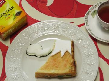リプトンひらめき朝食 「赤富士パン」_a0150910_8455311.jpg