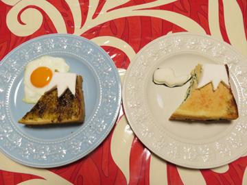 リプトンひらめき朝食 「赤富士パン」_a0150910_8545313.jpg