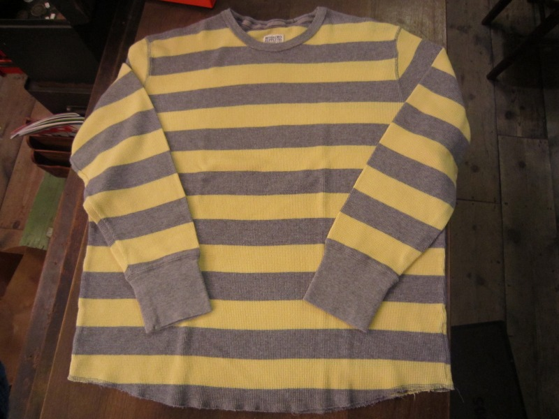 Wide Border Waffle L/S T-Shirt。_a0182112_16334734.jpg