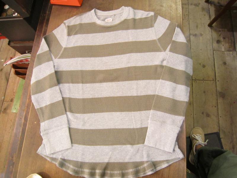 Wide Border Waffle L/S T-Shirt。_a0182112_163377.jpg