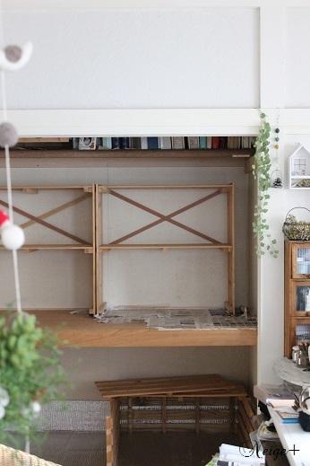 DIY押入れ改造3:ひと手間加えたスノコで使い勝手のいい収納棚♪_f0023333_20333843.jpg
