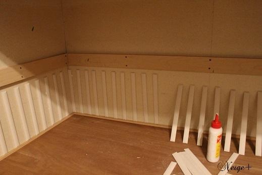 DIYでセルフリノベーション中の押入れ改造1 棚移動&壁紙貼り途中経過_f0023333_20335456.jpg