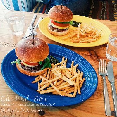 ロンハーマンカフェのハンバーガー