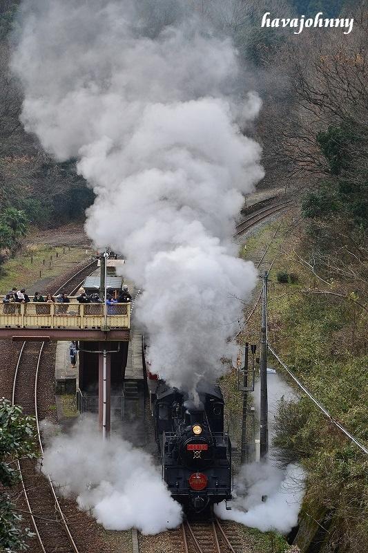 上から目線のポニー発車~SL津和野稲成号7~_c0173762_12212385.jpg