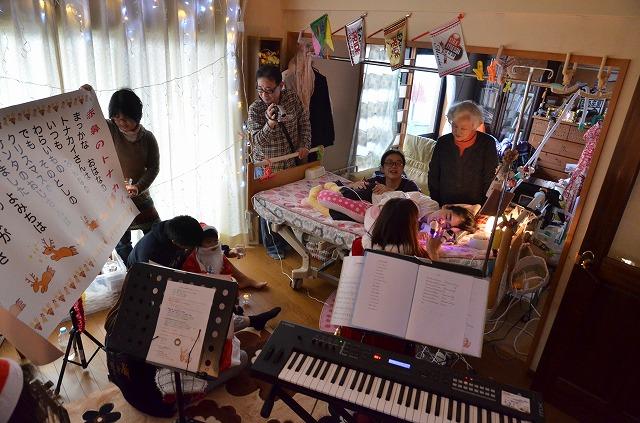 2015年12月6日、Misakiちゃんちで、パレットクリスマスコンサート_e0188087_18144648.jpg