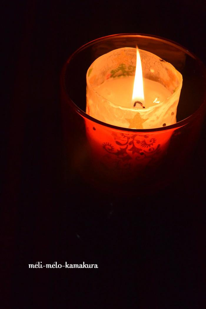 ◆デコパージュ*キャンドルに火をともしたら・・・?_f0251032_13262972.jpg