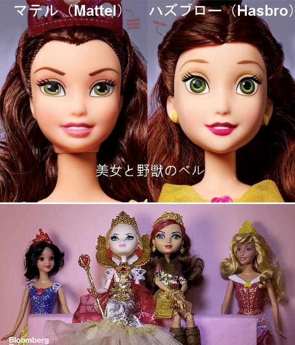 今年からディズニー・プリンセスのお人形さんの顔が変わります_b0007805_2015223.jpg