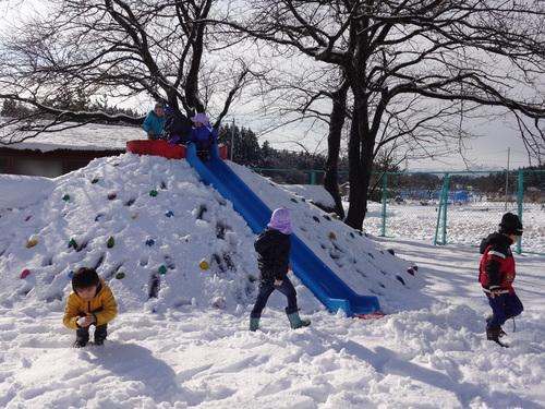 やった~雪が降ったよ!_d0166047_12212690.jpg