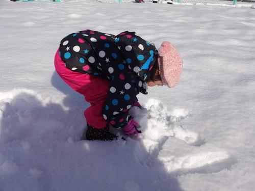やった~雪が降ったよ!_d0166047_12262532.jpg