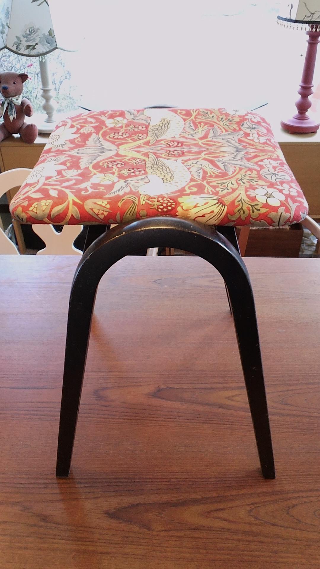 椅子の張替え ウィリアムモリス_c0157866_2161519.jpg