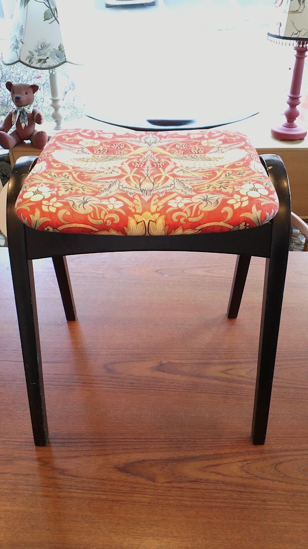 椅子の張替え ウィリアムモリス_c0157866_2162847.jpg