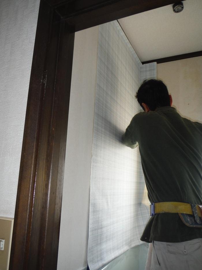 トイレと窓のリフォーム ~ 壁、天井の内装_d0165368_2351833.jpg