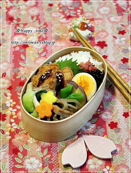 メカジキフライ弁当と黒豆でラウンドパン♪_f0348032_19001309.jpg
