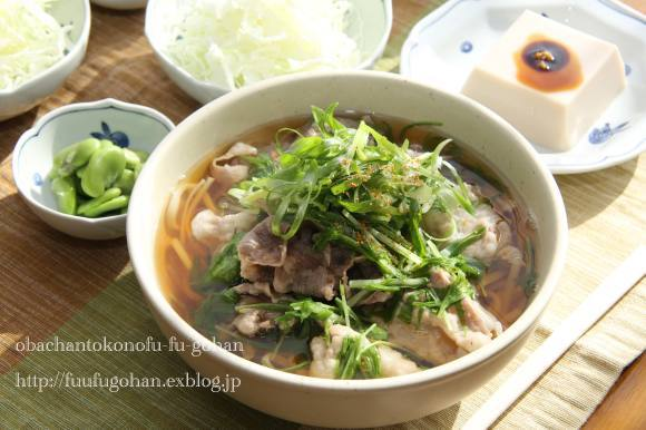 イベリコ豚と水菜のおうどんブランチ_c0326245_11593904.jpg