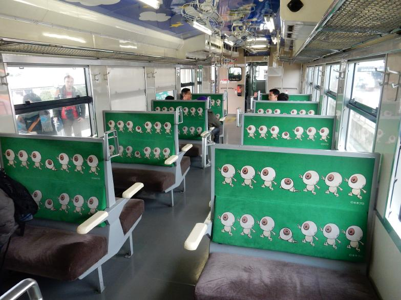 「ゲゲゲ」のJR境線、妖怪列車の撮り鉄女子と外国人ブロガー来訪の噂_b0235153_1439595.jpg